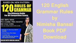 120 English Grammar Rules by Nimisha Bansal Book PDF Download