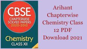 Arihant Chapterwise Chemistry Class 12 PDF