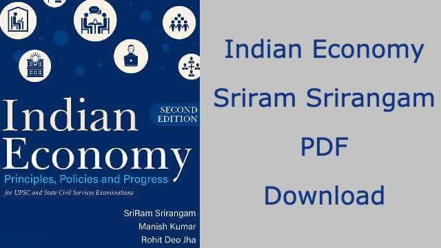 Indian Economy by Sriram Srirangam PDF
